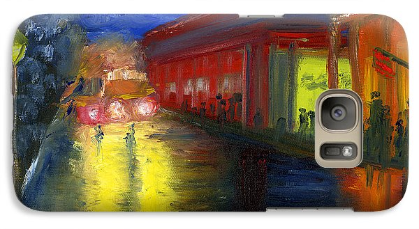 Galaxy Case featuring the painting Natchitoches Louisiana Mardi Gras Parade At Night by Lenora  De Lude