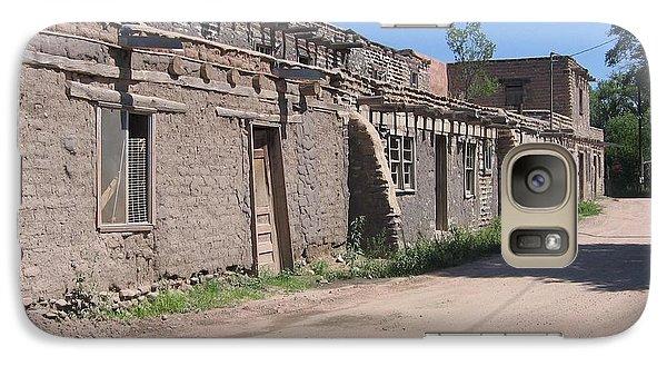 Galaxy Case featuring the photograph Native American Adobe Pueblo by Dora Sofia Caputo Photographic Art and Design