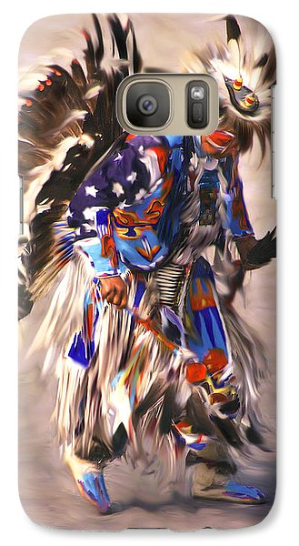 Galaxy Case featuring the photograph Native American Dancer by Clare VanderVeen