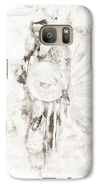 Galaxy Case featuring the digital art Native American by Erika Weber