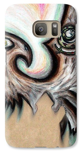 Galaxy Case featuring the painting Native American Eye Of The Eagle 1 by Ayasha Loya