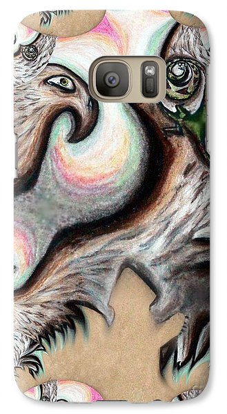 Galaxy Case featuring the painting Native American Eye Of The Eagle 2 by Ayasha Loya