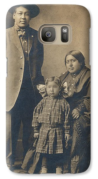 Galaxy Case featuring the photograph Native American Family by Paul Ashby Antique Image