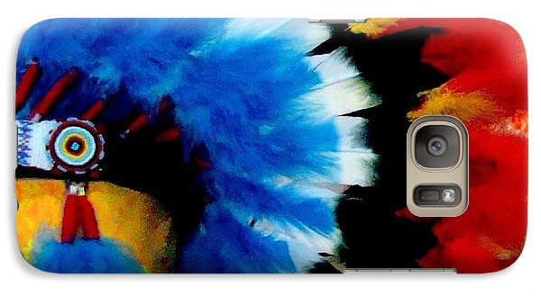 Galaxy Case featuring the photograph Native American Headdress by Janette Boyd