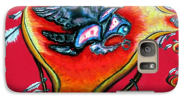 Galaxy Case featuring the painting Native American Owl Symbol 2 by Ayasha Loya
