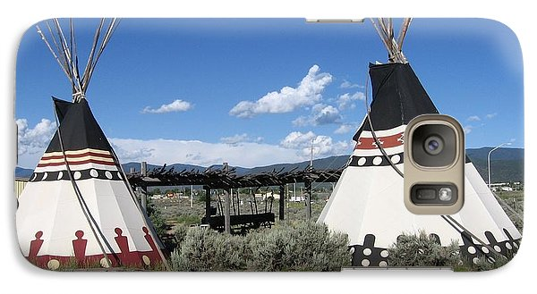 Galaxy Case featuring the photograph Native American Teepees by Dora Sofia Caputo Photographic Art and Design