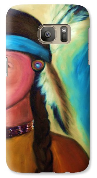 Galaxy Case featuring the painting Native American Woman 1 by Ayasha Loya