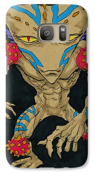 Galaxy Case featuring the drawing Native Lurcher by John Ashton Golden