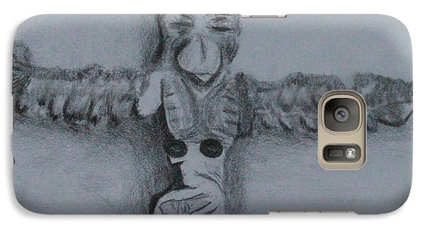 Galaxy Case featuring the drawing Native Totem 1 by Ayasha Loya
