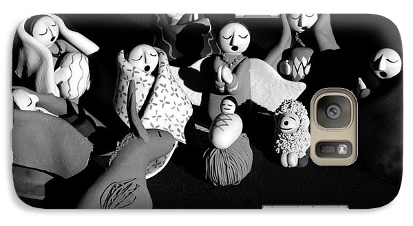 Galaxy Case featuring the photograph Nativity Earthenware by Ron White