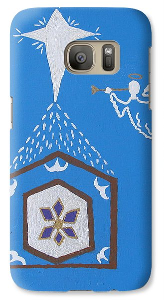 Galaxy Case featuring the painting Nativity Scene by Brady Harness