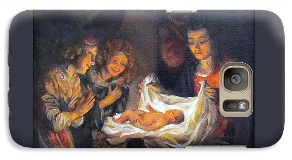 Galaxy Case featuring the painting Nativity Scene Study by Donna Tucker