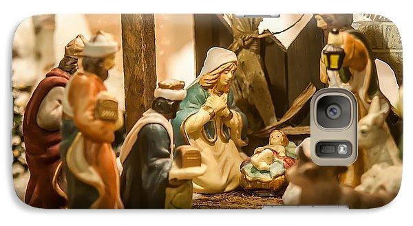 Galaxy Case featuring the photograph Nativity Set by Alex Grichenko