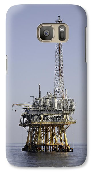 Galaxy Case featuring the photograph Natural Gas Platform by Bradford Martin