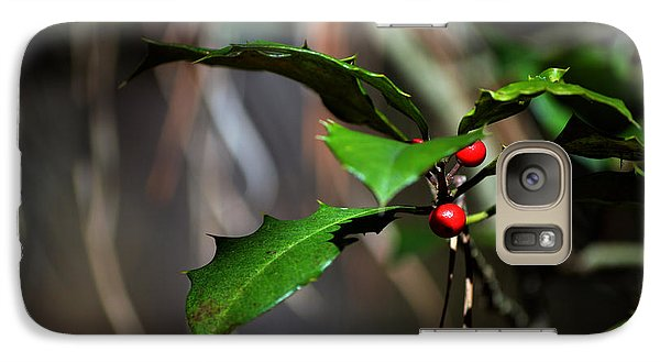 Galaxy Case featuring the photograph Natural Holly Decor by Bill Swartwout