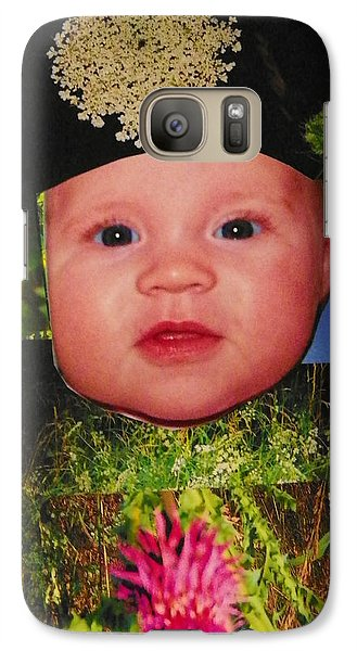 Galaxy Case featuring the photograph Nature Girl II by Shirley Moravec
