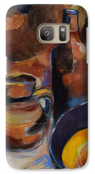 Galaxy Case featuring the painting Still Life Sepia by Elise Palmigiani