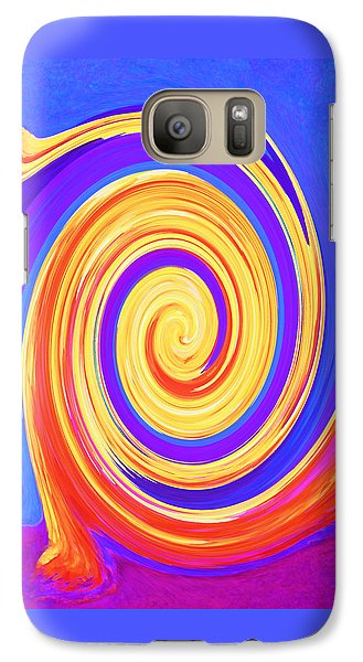 Galaxy Case featuring the painting Nature Twirling by Margaret Saheed