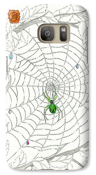 Galaxy Case featuring the drawing Nature's Art by Dianne Levy