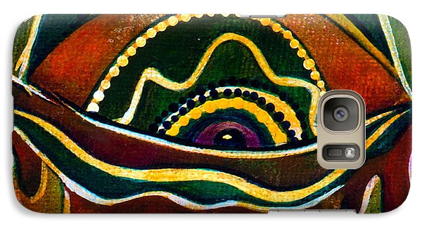 Galaxy Case featuring the painting Nature's Child Spirit Eye by Deborha Kerr