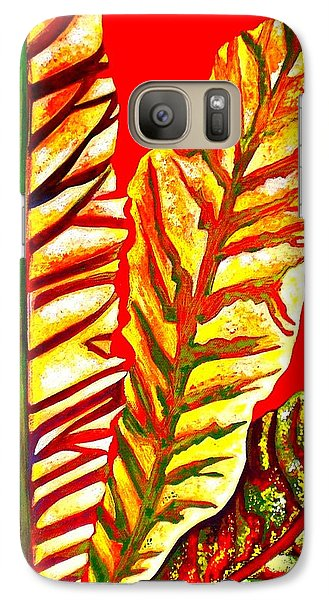 Galaxy Case featuring the painting Nature's Gifts by Julie  Hoyle