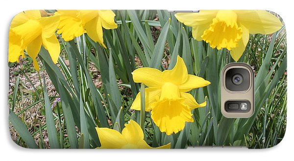 Galaxy Case featuring the photograph Nature's Golden Trumpets by Judy Palkimas