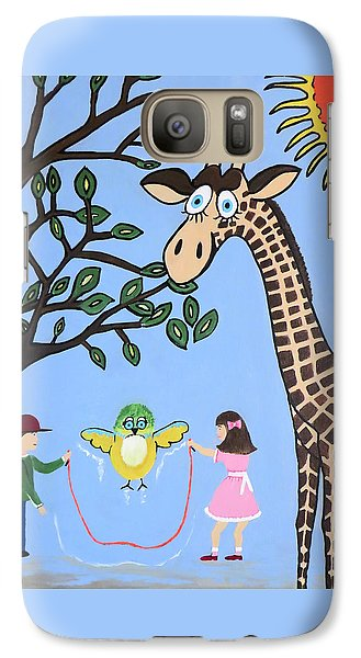 Galaxy Case featuring the painting Nature's Playground by Kathleen Sartoris