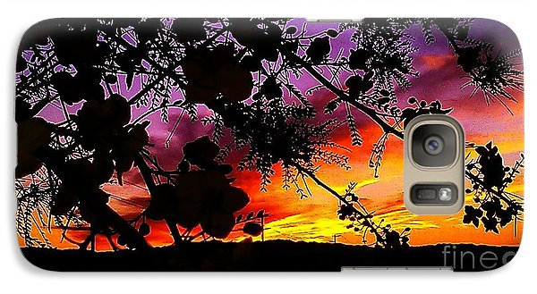 Galaxy Case featuring the photograph Nature's Silohuette by Chris Tarpening