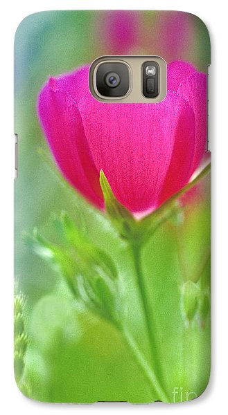 Galaxy Case featuring the photograph Natures Winecup South Texas by Dave Welling