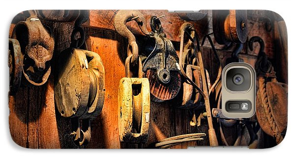 Nautical - Boat - Block And Tackle  Galaxy Case by Paul Ward