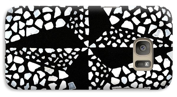 Galaxy Case featuring the mixed media Nautical by Kjirsten Collier
