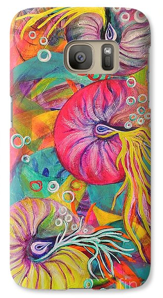 Galaxy Case featuring the painting Nautilus by Lyn Olsen