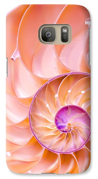 Galaxy Case featuring the photograph Nautilus Shell Detail by Jim Hughes