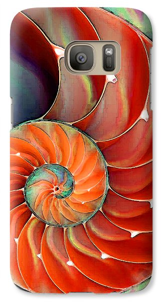 Bass Galaxy S7 Case - Nautilus Shell - Nature's Perfection by Sharon Cummings