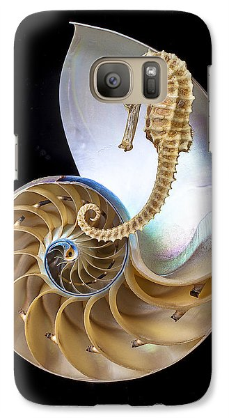 Nautilus With Seahorse Galaxy S7 Case by Garry Gay