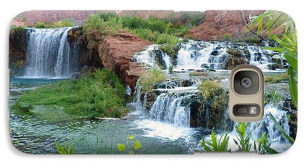 Galaxy Case featuring the photograph Navajo Falls by Alan Socolik