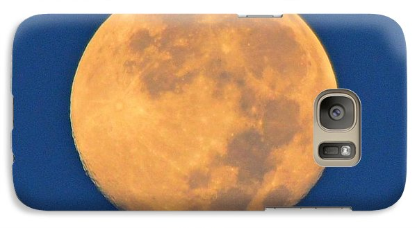 Galaxy Case featuring the photograph Navarre Beach Full Moon At Sunrise by Jeff at JSJ Photography
