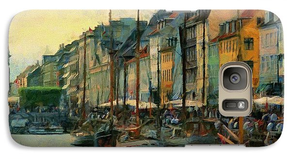 Galaxy Case featuring the painting Nayhavn Street by Jeff Kolker