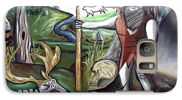 Galaxy Case featuring the painting Neander Valley by Ryan Demaree