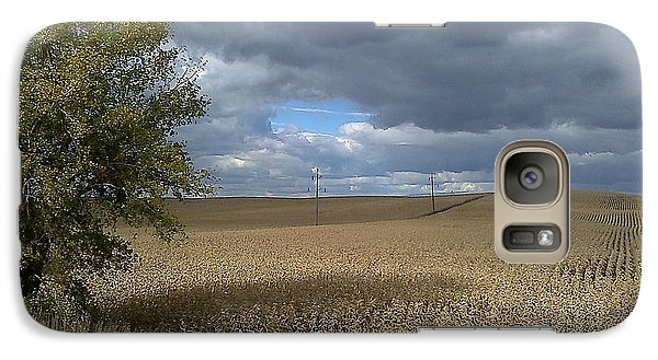 Galaxy Case featuring the photograph Nebraska Cornfield by Lea Wiggins