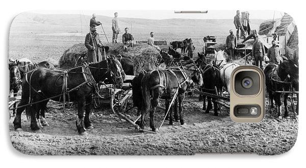 Galaxy Case featuring the photograph Nebraska Threshing, 1886 by Granger