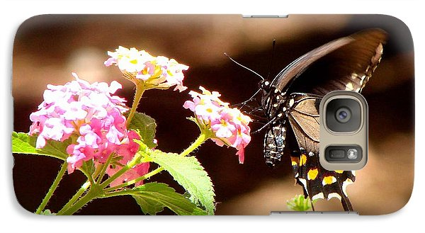 Galaxy Case featuring the photograph Nectar Of The Monarchs by Linda Cox