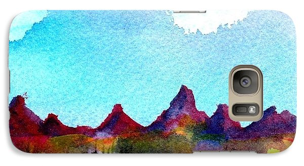 Galaxy Case featuring the painting Needles Mountains by Anne Duke