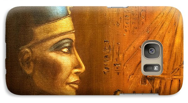 Galaxy Case featuring the painting Nefertiti by Arturas Slapsys