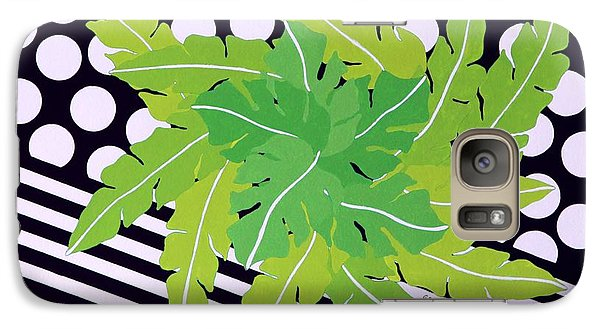 Galaxy Case featuring the painting Negative Green by Thomas Gronowski