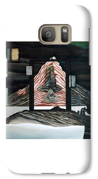 Galaxy Case featuring the painting Negative Ion by Fei A