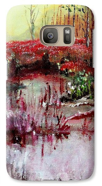Galaxy Case featuring the painting Neighborhood Creek by Jim Phillips