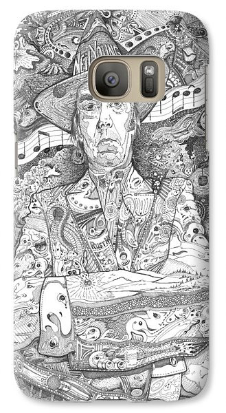 Neil Young Lives Music Galaxy Case by Lance Graves