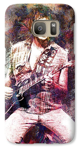 Neil Young Original Painting Print Galaxy S7 Case by Ryan Rock Artist