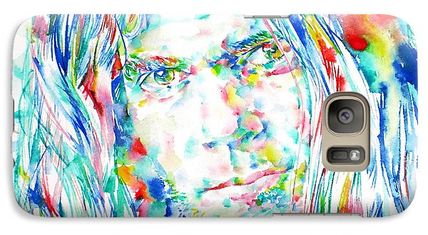 Neil Young - Watercolor Portrait Galaxy S7 Case by Fabrizio Cassetta